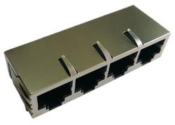 供应Rj45千兆4口网络连接器 8 环 LPJG46806NNL 不带屏蔽