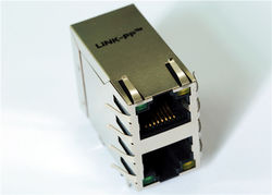 供应Rj45-2x1口 10/100M 屏蔽内置变压器 LPJ17206AGNL