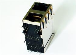 供应Rj45-2x1口 10/100M 屏蔽内置变压器 LPJ17634AENL