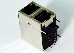 供应Rj45-2x1口 10/100M 屏蔽内置滤波器 LPJ17423BGNL